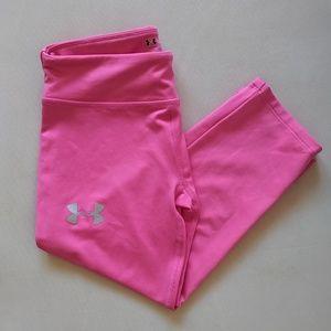 Under Armour HeatGear Girls Hot Pink Leggings